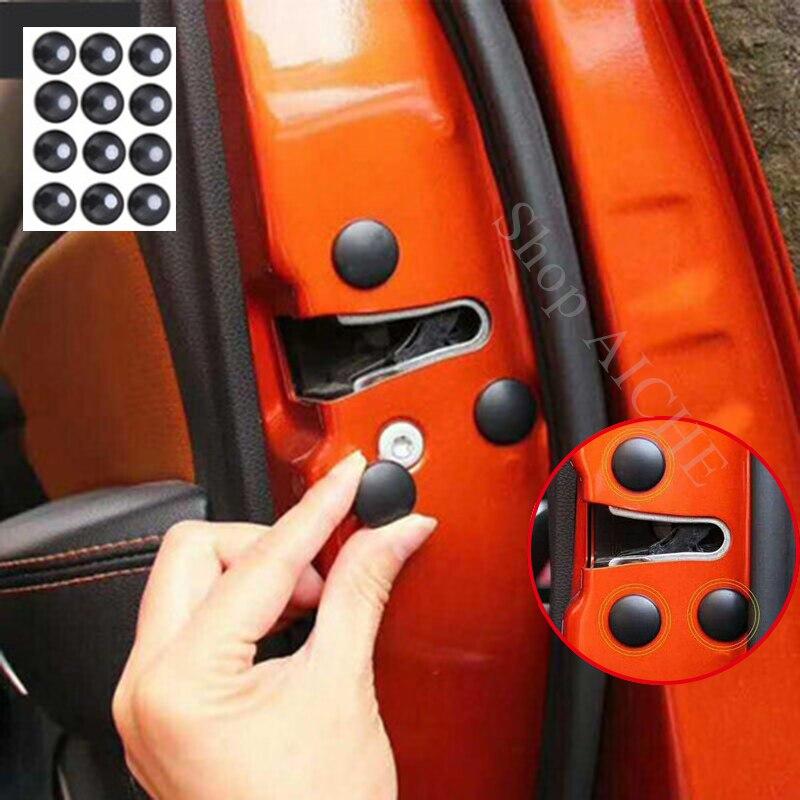 12 Pc Car Door Lock Screw Protector Cover Accessories For Mercedes Benz GLK X204 CLA W140 GLA X156 SLK R172 GLC CLK C208