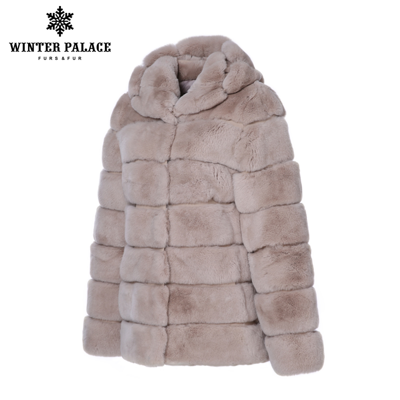 Trends rex rabbit coat O-Neck Rex Rabbit Fur new winter products real rex rabbit fur coat Thick Warm Fur real rex rabbit fur