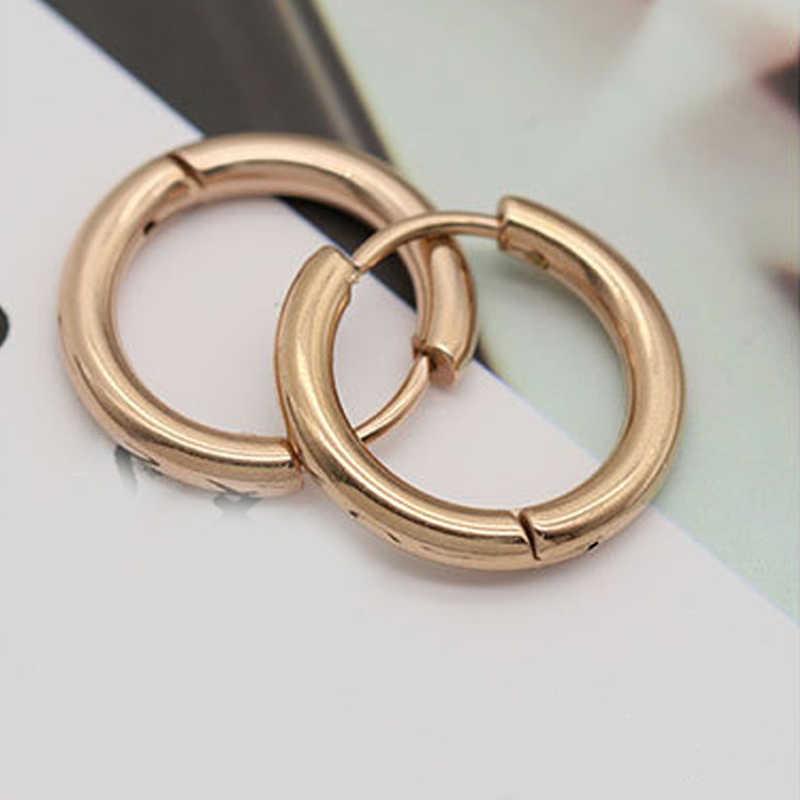1 Pcs Stainless Steel Bulat Anting-Anting Kecil Keren Anting-Anting Wanita Anting-Anting-Anting Lingkaran Pria Perhiasan Pria Tindik Telinga Vintage Perhiasan Hadiah