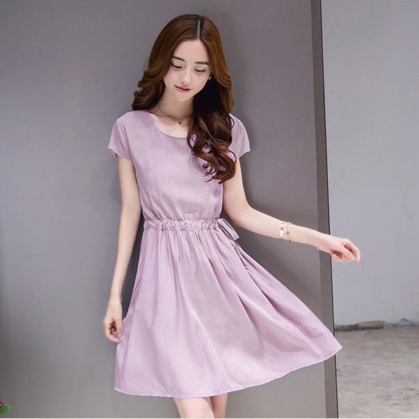 2fb897346632  2017  Специальное предложение каждый день новое летнее платье белье хлопок короткий  Платье с рукавами