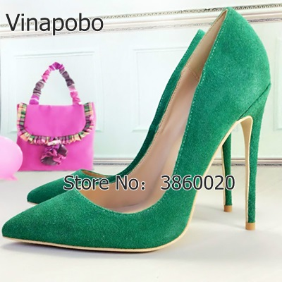 Detail Feedback Questions about Vinapobo Half Empty 12cm 10cm 8cm Stilettos  Women Pointed Toe GREEN High Heels Pump Blue wedding shoes bride EURO Size  42 on ... 865eeaf3b9fc