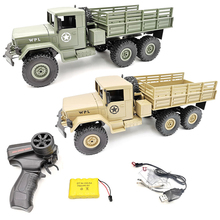 WPL B-16 B16 Ural 1:16 2.4G 6WD RC Car Command Communication Military Remote Control Rock Crawler Auto Army Trucks Boys Toys