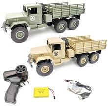 WPL B 16 B16 Ural 1:16 2.4G 6WD RC komenda samochodowa komunikacja wojskowy zdalnie sterowanym samochodowym samochód rock clawler zdalnie sterowany Auto Army Trucks zabawki dla chłopców