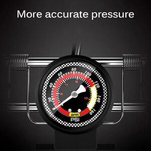 Image 4 - Pédale haute pression, pompe à Air pour vtt, vélo de route, voiture, gonfleur simple Double cylindre, pour Scooter Xiaomi M365