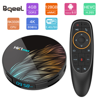 Bqeel Android 9.0 TV BOX HK1MAX RK3328 Quad Core 4G 64G 128G BT 4.0 WIFI Smart TV Box 4K HDR Google Play Netflix Set Top Box