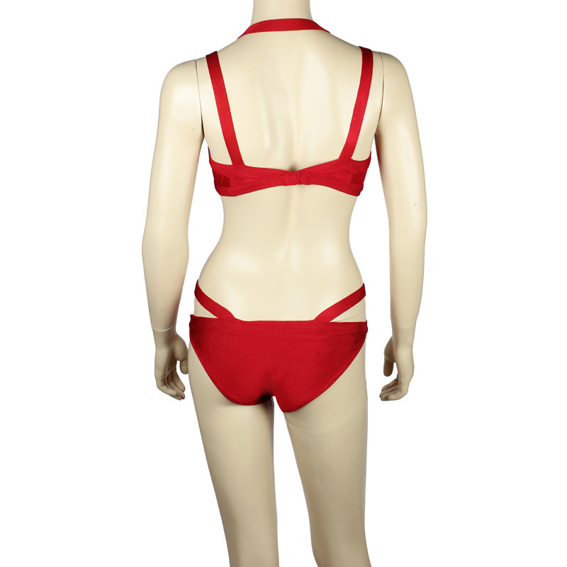 4a6a5b461 New Fashion Red Bandage Swimsuit HL Bikinis 2 piece Swimsuit Red Beachwear-in  Underwear from Mother   Kids on Aliexpress.com