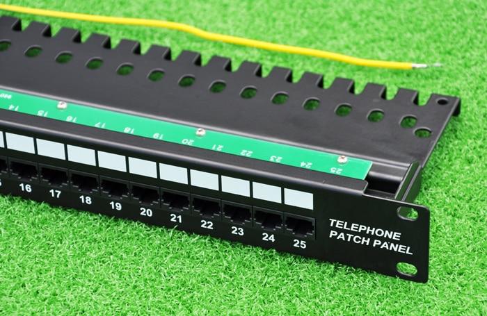 Kết quả hình ảnh cho Patch panel RJ11 for Telephone 25 Port