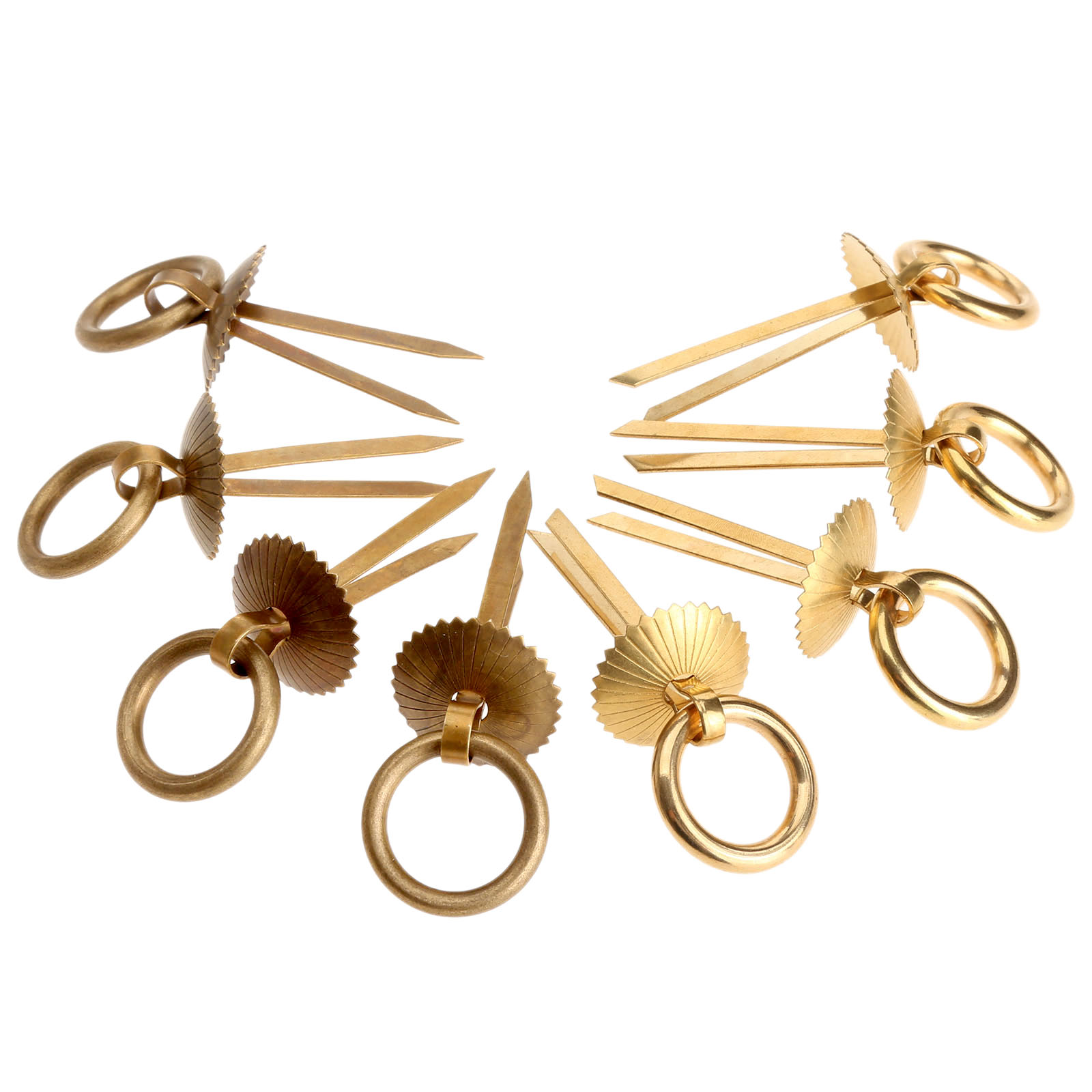 4Pcs Brass Drawer Ring Pulls Handles Antique Copper Cupboard Handle Pull  Wardrobe Drawer Cabinet Knobs And Handles For Furniture