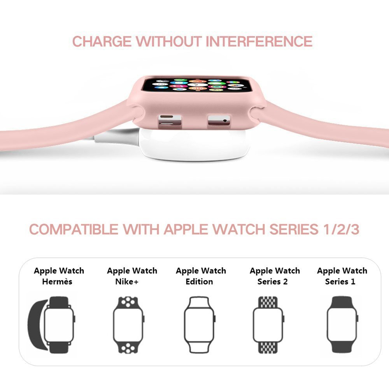 TPU case and Watchband 2 in 1 Set protectiver Bumper for Apple watch band 42 38 44 40mm Bracelet Strap for iWatch series 4 3 2 1 in Watchbands from Watches