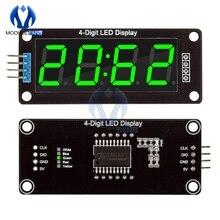 """TM1637 4-разрядный светодиодный 0,5"""" 0,56 Iinch 7 сегментов Дисплей трубка часы с двойным точки модуль зеленый светодиодный Дисплей модуль для Arduino"""