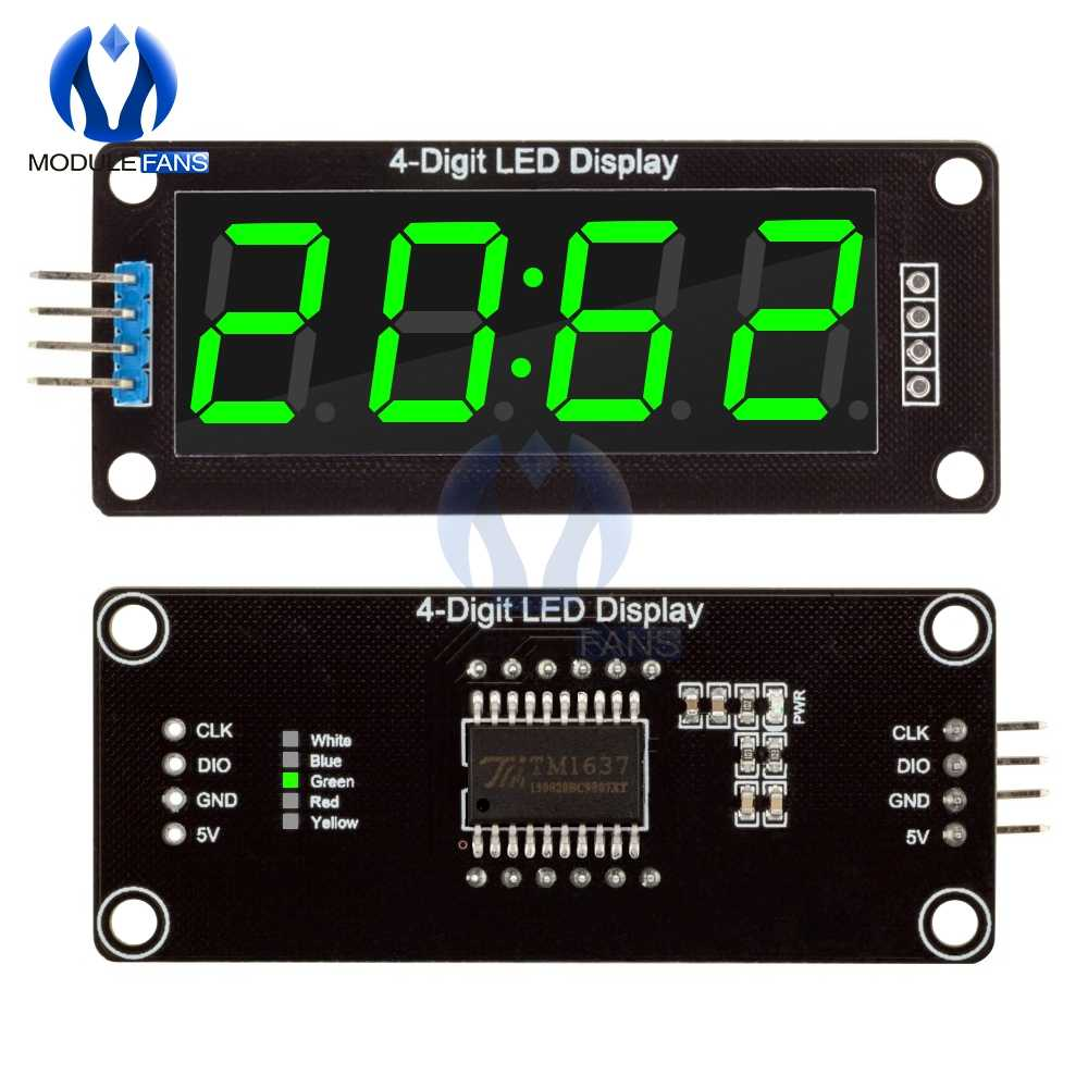 "TM1637 4-Stellige LED 0.56 ""0,56 Iinch 7 Segmente Display Rohr Uhr Doppelte Punkte Modul Grüne LED Display modul Für Arduino"