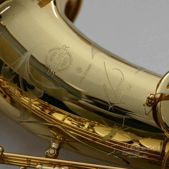 Very Beauty Selmer Gold Lacquer Saxophone Tenor Bb Sax Carved Pattern Professional Tenor Sax With Mouthpiece