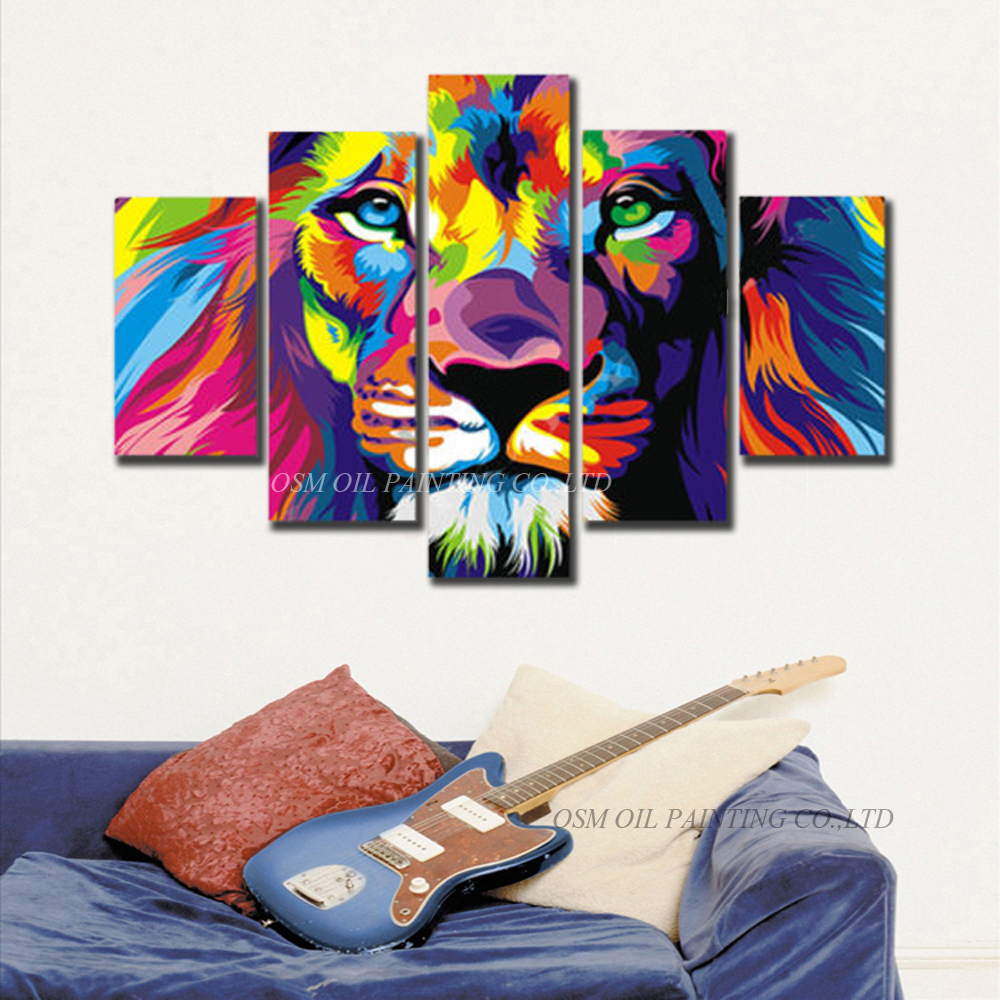 ᗗHabilidades artista pintado a mano de alta calidad resumen León ...
