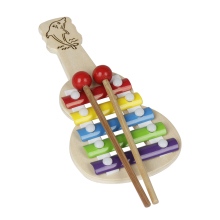 Гитара-формы 5 отмечает Ксилофоны Металлофон с 2 молотки музыкальная игрушка в подарок для детей ударный инструмент