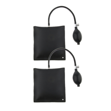 2Pcs 15x15cm Black TPU Air Pump Wedge Inflatable Leveling Alignment Shim Bag Tool for Window Door Car Repair Supplies