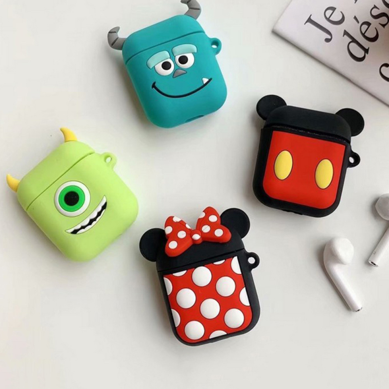 Newly 3D Cartoon Color Cute Disney Earphone Case Headset Cover For Apple Airpods Charging Case Earphones Box For Airpod Case