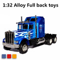Hot 1:32 alloy Optimus truck head pull back truck model toys, specials, free shipping