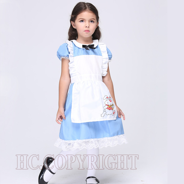 Alice Im Wunderland Weißes Schürze Blau Kleid Lolita Kleider Mädchen ...