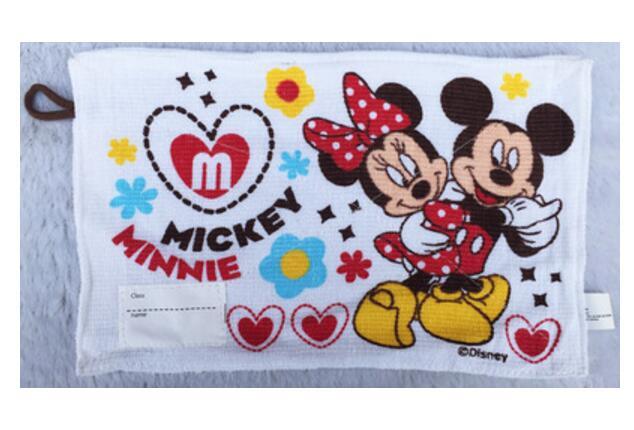 Cartoon Mickey Minnie Baby Handkerchiefs Pocket Hanky Zakdoek Printed Handkerchief Children Portable Cotton Towels 20*30CM