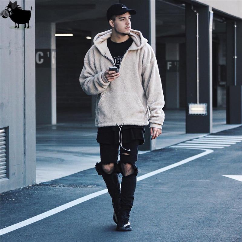 Man Si Tun High Street Style Autumn And Winter Fashion Mens Oversized Hoodies Men Brand Half Zipper Pullover Hooded Sweatshirts