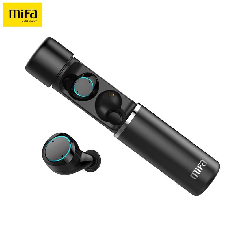 Mifa X1 беспроводные TWS Bluetooth наушники сенсорное управление 3D стерео наушники гарнитура с микрофоном и power bank спортивные наушники