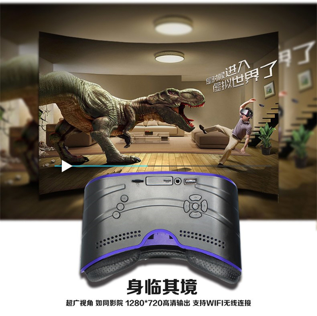 Glavey All in one VR headset works without smartphone:HD IPS Screen,720*1280 Resolution,Wifi and Bluetooth 4.0,Support USB 2.0# 1
