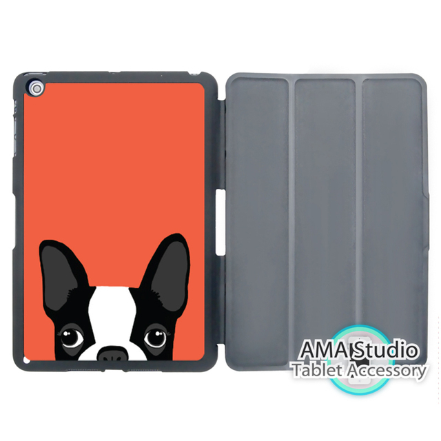 Boston Terrier Puppy Dog Smart Cover Case For Le Ipad Mini 1 2 3 4 Air