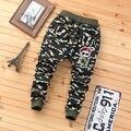 Novo 2017 Outono Meninos Adolescentes de Jeans Para O Menino Do Bebê Camuflagem Elástico Na Cintura das Calças Jeans Crianças Jean Crianças Denim Longo Pant
