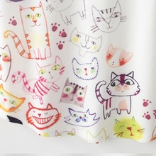 Kawaii Cute Style Cartoon Cat Print T-shirt Short Sleeve O-neck