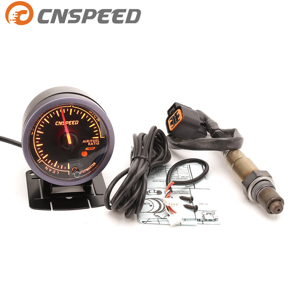 Free Shipping CNSPEED 60mm Car Auto Air Fuel Ratio Gauge & Narrowband Oxygen Sensor O2 Rear For 01-06 Hyundai 2.0L Car Meter