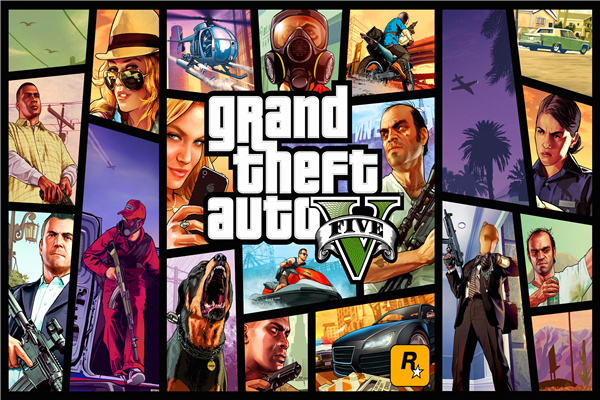 Custom Canvas Art Grand Theft Auto Poster GTA 5 San Andreas Game Wallpaper Grand Theft W ...