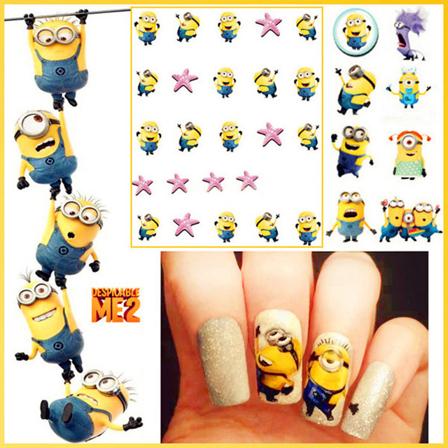 Hot sale lovely minions nail stickers water transfer sticker nail hot sale lovely minions nail stickers water transfer sticker nail art decals nails wraps temporary tattoos prinsesfo Choice Image
