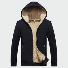 7d5d66ba5c0 Зимние мужские куртки флисовые пальто с капюшоном Теплый спортивный костюм  мягкие мужские толстовки толстый бархатный Свитшот