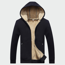 Winter Jackets Fleece Hooded Coats Warm Tracksuit Soft Hoodies Thick Velvet