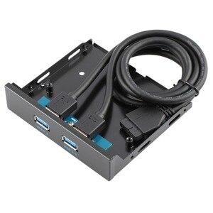 Image 1 - Connecteur USB 3.0, 20 broches, 2 Ports, panneau avant, support de contrôleur de moyeu Bay, support de câble Plug and Play disc interne