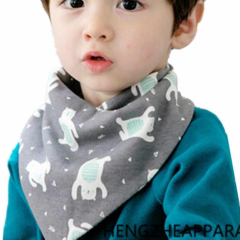 Çocuk emici pamuk bebek moda eşarp ayı tilki çiçek meyve karikatür kız erkek yaka çocuk giyim aksesuar eşarp