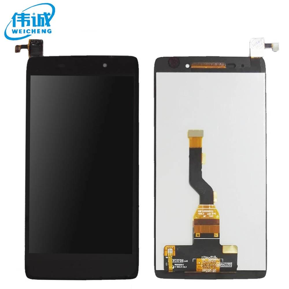 imágenes para 1 UNIDS WEICHENG Original LCD Para Alcatel One Touch Ídolo 3 OT6039 6039 Pantalla LCD con Digitalizador de la Pantalla Táctil Assemblely negro