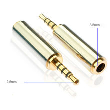 Factory price 2.5mm Male To 3.5mm Female Stereo Audio Headphone Jack Adapter Converter J03T Drop Shipping(China)