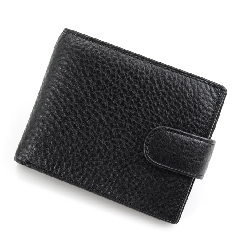 Drop Shipping 2018 Men Fashion Casual Wallet Top Genuine Leather Card Organizer Short Clutch Money Bag Coin Purses Photo Bit