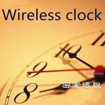 Reloj inalámbrico poner el tiempo adecuado para abrir la cerradura prop Takagism Juego real life escape room herramientas