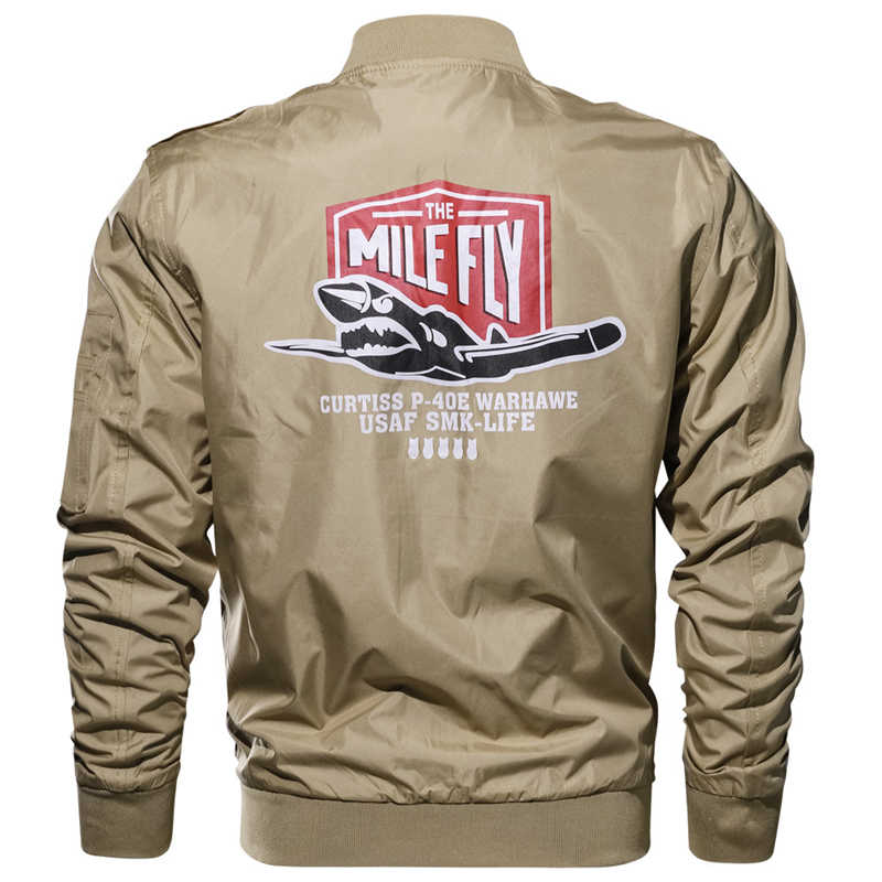 Nueva chaqueta de bombardero de primavera y otoño de 2018 para hombre Jaqueta masculina talla grande 6XL militar de la Fuerza Aérea chaqueta de vuelo rompevientos