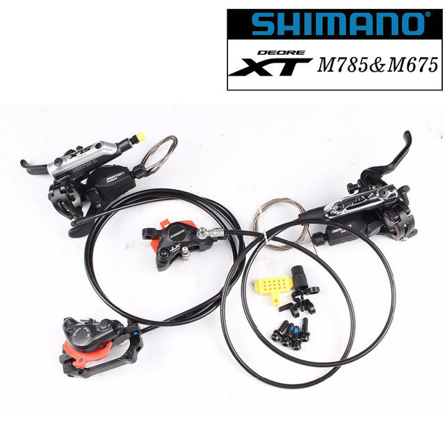 9c1cfabfe20 Shimano XT M785 & M675 Mountain Bike bicycle front Hydraulic DISC BRAKE  with m615 ispec-b shifter 2/3 speed shifter