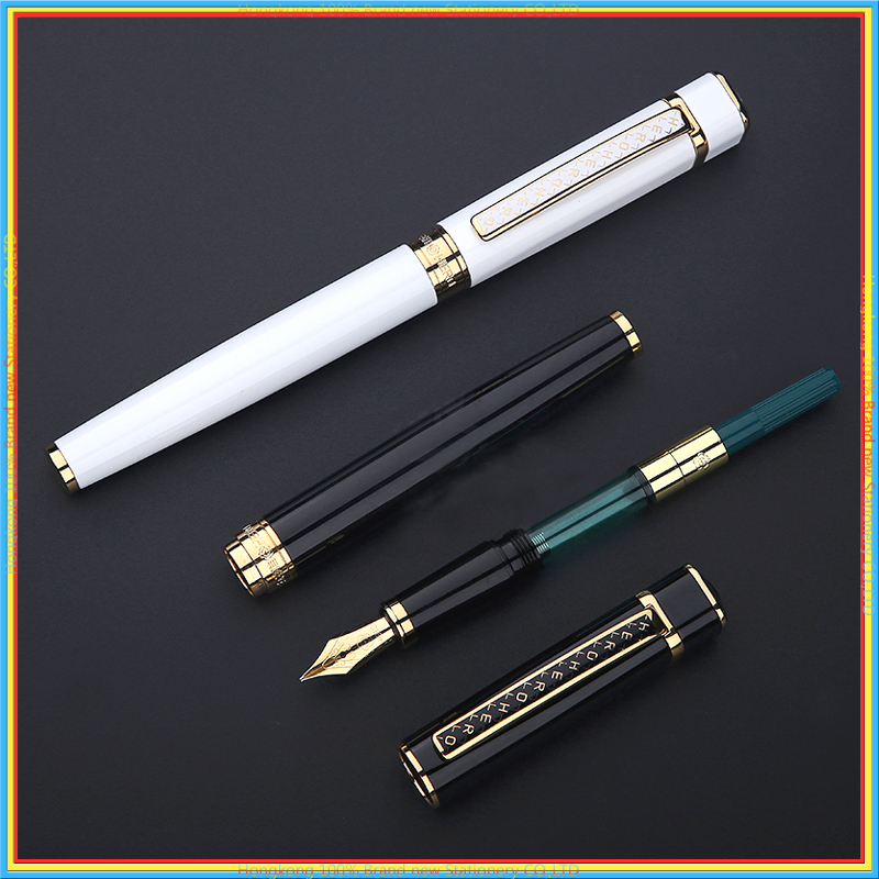 High Quality Luxury Iraurita Fountain pen 0.5mm Full metal Ink pens for Writing calligraphy Caneta Office school supplies 03858 italic nib art fountain pen arabic calligraphy black pen line width 1 1mm to 3 0mm
