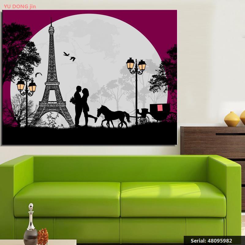Věž Zátiší Moderní olejomalba Kresba umění Sprej Bez rámečku Plátno design šátek akce airbrush železo vosk48095982