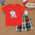 SS2-012, Original, nova Coleção, Toddler Boys 2-Piece Set, com-manga Curta T + Shorts, frete Grátis
