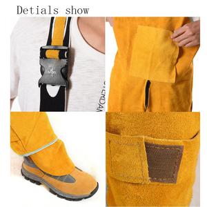Image 2 - Welding Mens Overalls Safety Clothing Overalls High Temperature Protect Leather Flame Retardant Wear Repair Welding StrapDFW033
