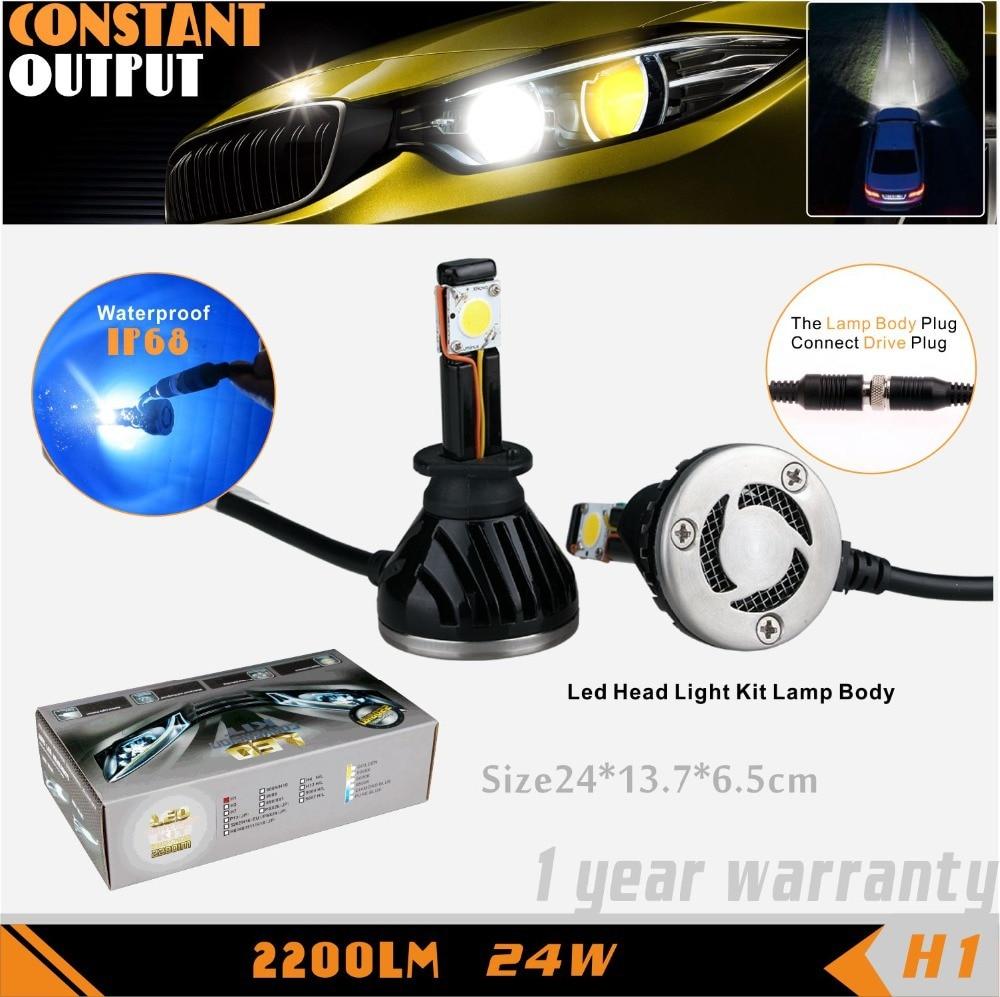 Aliexpress com buy sldx 2 h1 led car headlight 5000k 12v 24w for honda cr v odyssey hyundai i30 replace hid 2 year warranty from reliable car headlight