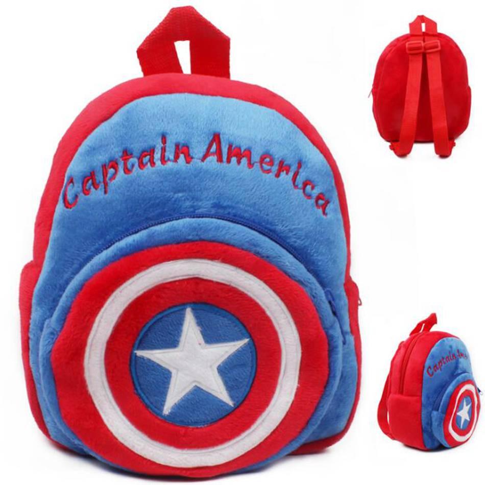 2018 Captain America Plüsch Schule Rucksack Kinder In Kindergarten Tasche Mini Schulranzen Mochila Infant Gute Begleiter FüR Kinder Sowie Erwachsene