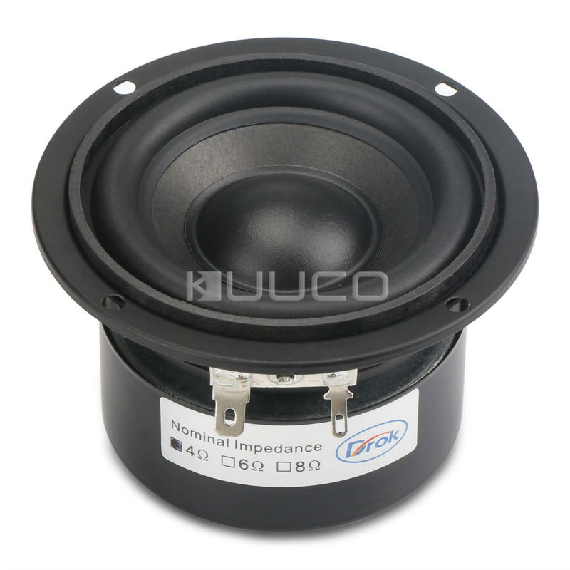 Woofer Speaker 3 inches 4 ohms Audio Loudspeaker 25W Hi-Fi Subwoofer Speaker Bass Antimagnetic Speaker for DIY speakers hi fi speaker
