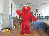 Elmo costume de marche en peluche sesame street elmo de mascotte costumes longue fourrure mignon rouge monstre